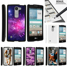 For LG Escape 2   LG Logos H443 Case Hard Snap On 2 Piece Shell Galaxy Stars