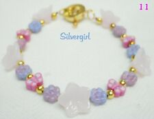 Colorful Spring Summer Flower Butterfly Easter Heart Clasp Bracelets