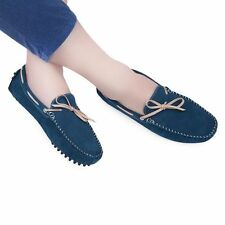 Mens Nubuck Leather Lace Up Moccasin Deck Shoes Boots Slip on Loafers Shoes AUS