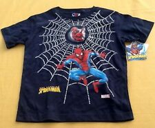 NWT Youth Marvel Spiderman Navy Blue Shirt Size 7