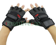 Men's Women's Cow Hide Leather Motorcycle Bike Cycling Car Sports Fitness Gloves