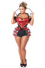 Sexy Women Steel Boned Bustier Corset Top Waist Cincher Sexy Party Costume