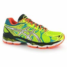 Asics Gel Nimbus 16 Running Shoes Mens Yellow/Silver Fitness Trainers Sneakers