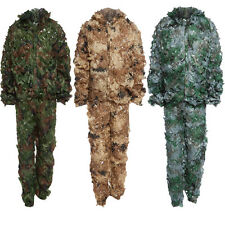 3D Bionic Leaf Camouflage Jungle Hunting Ghillie Suit Set Woodland Sniper AUS
