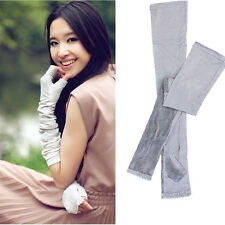 Vogue Women Long Lace UV Sun Protection Driving Gloves Golf Arm Sleeves