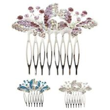 Flower Crystal Hairpins Hair Comb Crystal Headpiece Jewelry Wedding Bridal Accs