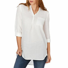 Esprit Shirts - Esprit Cotton Linen Long Sleeve Shirt - Off White