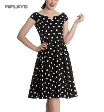 Hell Bunny 50s Dress Polka Dot NICKY Pin Up Rockabilly Black All Sizes