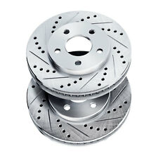 Brake Rotors [FRONT] POWERSPORT DRILLED SLOTTED -Chevrolet SILVERADO 3500