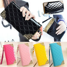 Fashion Lady's Women Zip Bag PU Long Purse Clutch Wallet Credit ID Card Holder