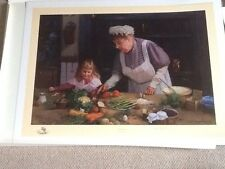 Granny's Kitchen David Shepherd signed limited edition print never framed