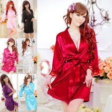 Women Sexy Lace Nightdress Sleepwear Lingerie Bathrobes Gown Kimono Robe Hot Top
