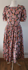 LAURA ASHLEY VINTAGE CLASSIC 80's FLORAL PRINT SUMMER / TEA DRESS, 14