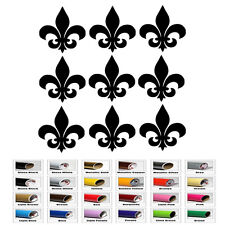 9 Fleur De Lis stickers for Wall Window party cup decals kid Car gift birthday