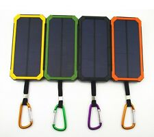 travel Solar Panel charger Power Bank Battery Dual-USB Charger LED light