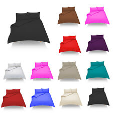 Plain Dyed Duvet/Quilt Cover Set With Pillow Cases Single,Double,King