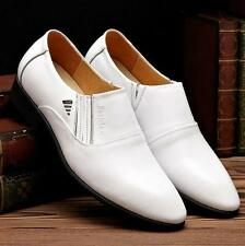 Fashion Mens slip on loafer shoes leather dress formal wedding shoes