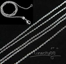 Wholesale Price Rolo Link CHAINS 1MM Sterling Silver Necklaces 16inch~24inch HOT