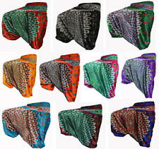 INDIAN BAGGY GYPSY HAREM PANTS YOGA MEN WOMEN Peacock Feather PRINT TROUSERS_2