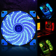 15 LED Light Quite 120mm DC 12V 4Pin PC Computer Case Cooling Cool Fan Mod 1PC