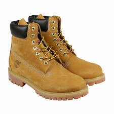 """Timberland 6"""" Premium Waterproof Boot Mens Tan Nubuck Lace Up Boots Shoes"""