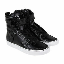 Radii Vertex Mens Black Leather High Top Lace Up Sneakers Shoes