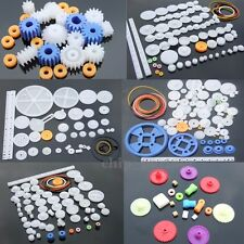 Kits Plastic Gears Pulley Belt Shaft Robot Motor Gear Set Worm Crown DIY Toy