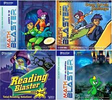 Age 9-12 MATH & READING BLASTERS Learning Games PC Windows XP Vista 7 8 10 NEW