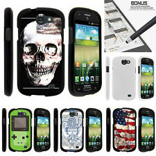 For Samsung Galaxy Express I437 Case Hard Snap On 2 Piece Slim Shell USA Skull