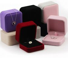 Deluxe Classic VELVET Necklace Pendant Earrings Presentation Jewelry Gift Box