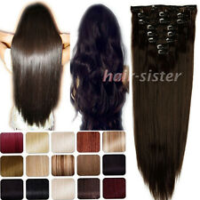 Cheapest Price Long Full Head Clip in Hair Extensions Women Lady hairpieces ha92