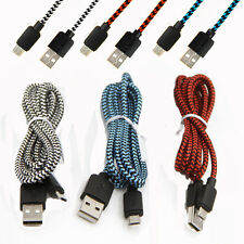 New 2A Braided Quick Micro USB Data&Sync Charger Cable Cord For Samsung HTC Lot