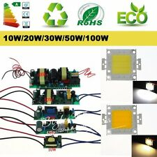 AC 10W/20W/30W/50W/100W LED Driver High Power  Supply LED Chip Light Lamp Bulb