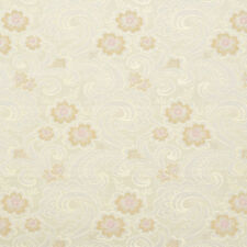 E390 Gold Pink and White Paisley Floral Brocade Upholstery Fabric