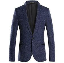 Mens Slim Fit One Button Suit Blazer Coat prom party dress formal jacket