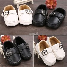 Baby Infant Boy Girl Toddler First Walker Casual Soft  Faux Leather Shoes BE0D