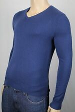 Polo Ralph Lauren Blue Cashmere V-neck Sweater NWT $398