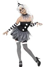 Ladies Sexy Sinister Clown Circus Halloween Fancy Dress Costume Outfit UK 8-18