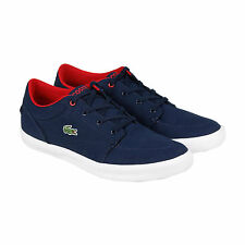 Lacoste Bayliss Mens Blue Canvas Lace Up Sneakers Shoes