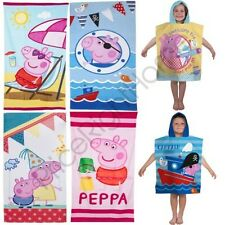 PEPPA PIG & GEORGE COTTON BEACH TOWELS AND PONCHOS CHILDRENS NEW
