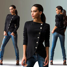 Women's Fashion Slim Button Casual Business Blazer Suit Lady Outwear Jacket Coat