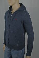 Polo Ralph Lauren Blue Grey Hoodie Full Zip Sweatshirt NWT