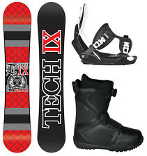 Technine IX Flat Black Red 156cm Snowboard+ Flow Bindings+Flow BOA Boots NEW