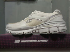 Skechers Womens Bravos White new NIB lace up Training Sneakers Shoes 11620 Sizes