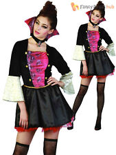 Ladies Vampire Costume Adults Halloween Fancy Dress Womans Vampiress Outfit