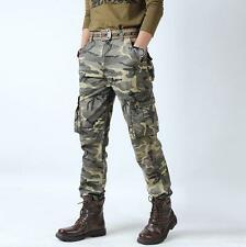 MENS military TACTICAL OVERALLS outdoor work PANTS camo CARGO straight TROUSERS