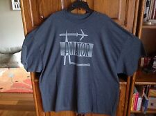 Bicycle by Plugg 4XL or 5XL Crew Neck T shirt Gray Aviator Graphic