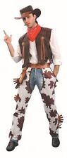 Adult Mens Cowboy Costume for Wild West Fancy Dress