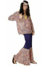 Adult Mens Hippie Costume for 60s 70s Hippy Fancy Dress