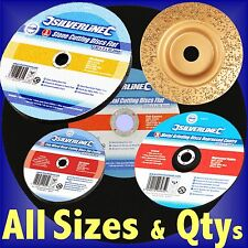 CUTTING GRINDING DISCS 70 100 115 125 230 300 350mm metal steel stone slitting